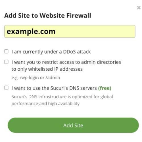 Sucuri firewall 1 3